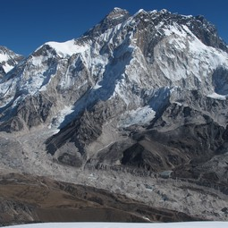 Everest and Khumbu glacier in the Dudh Koshi basin