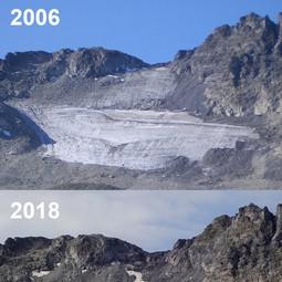 Evolution of Pizol glacier