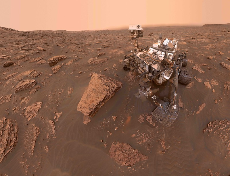 Curiosity's Dusty Selfie at Duluth (Credit: NASA-JPL-Caltech-MSSS)