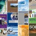 Covers of all 17 EGU journals published by Copernicus