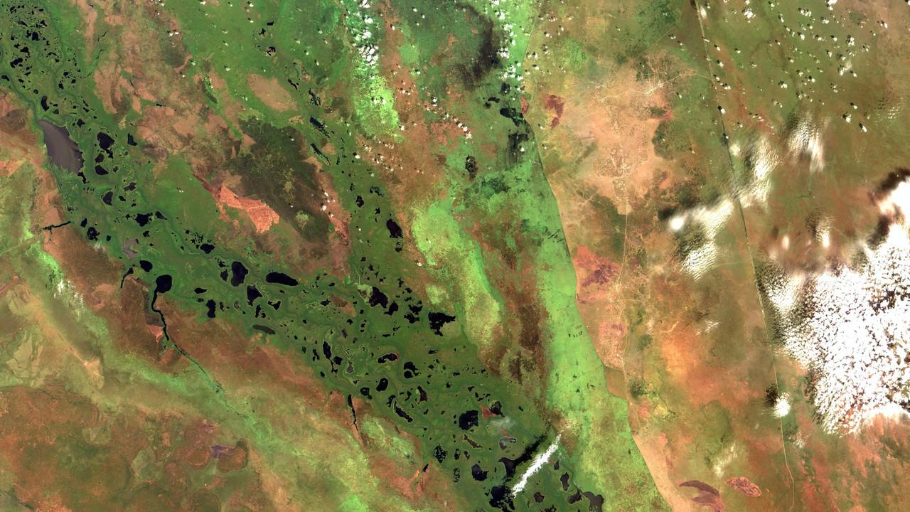 Aerial image of the Sudd wetlands in South Sudan (Credit: Coordenação-Geral de Observação da Terra/INPE via Flickr)