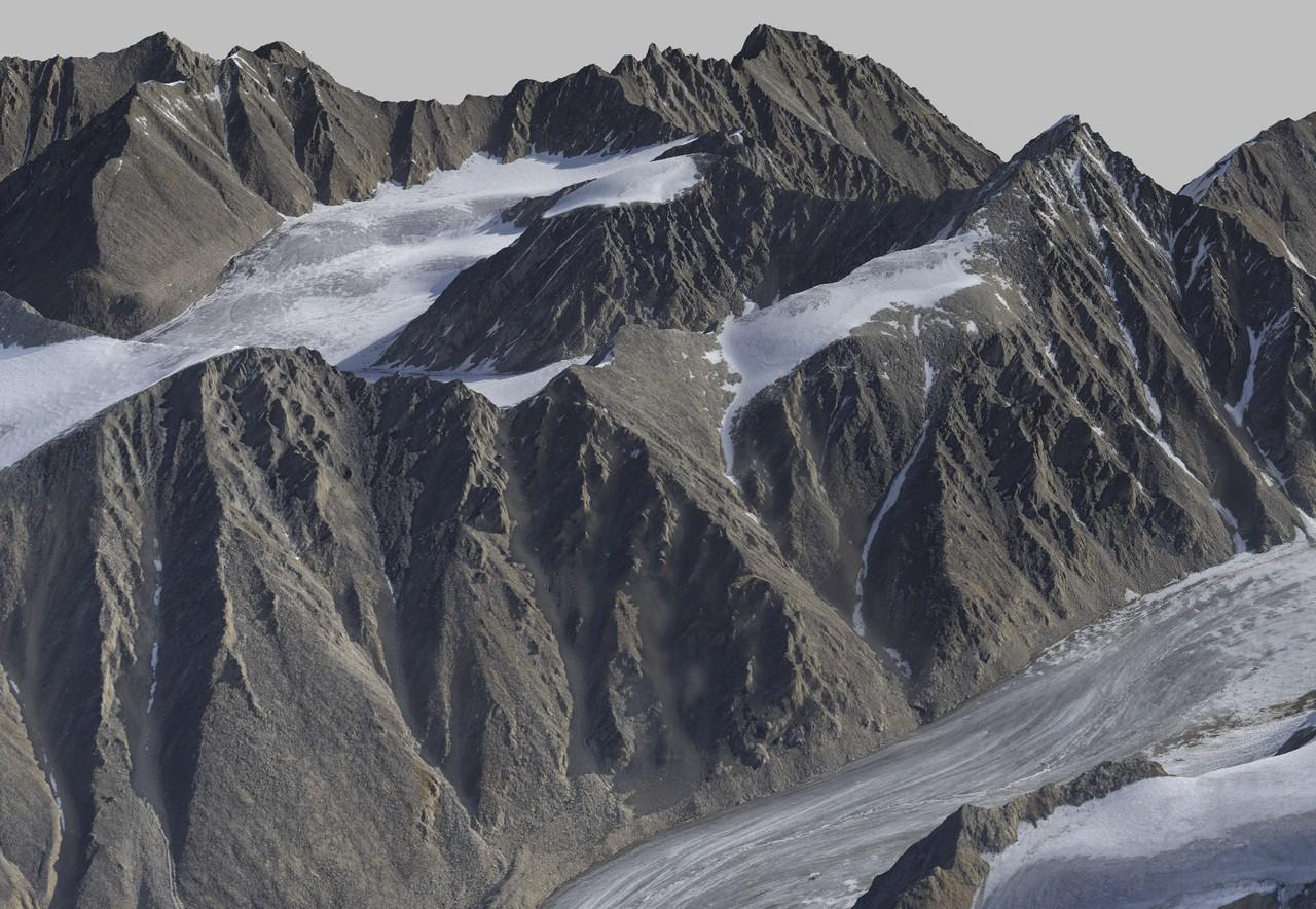 3D visualisation of Mt Hubley based on fodar data (Credit: Fairbanks Fodar)