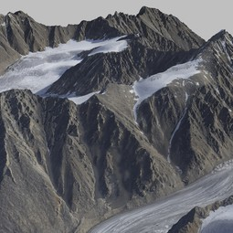 3D visualisation of Mt Hubley based on fodar data