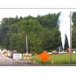 "Large release of methane to the atmosphere from a pipeline ""blowdown"""