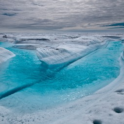 Melt stream, Greeland