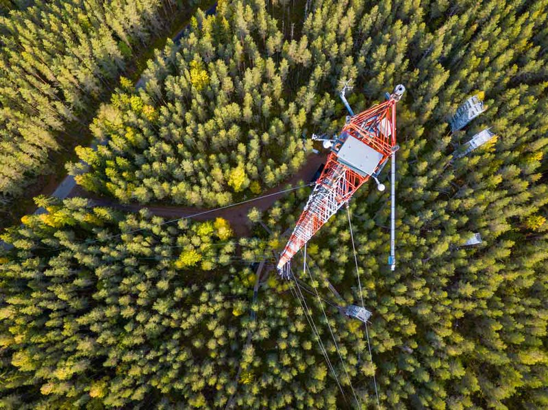 Flux tower in Finland (Credit: Jonathan D. Müller via Imaggeo)