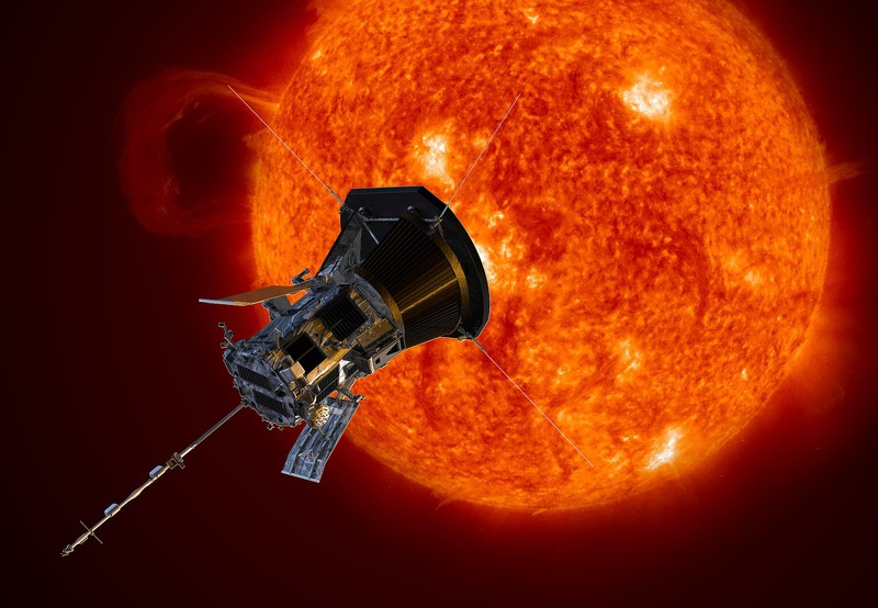 The Parker Solar Probe (Credit: NASA/Johns Hopkins APL/Steve Gribben /Public domain)