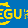 Landscape version (with claim) of the new EGU logo.