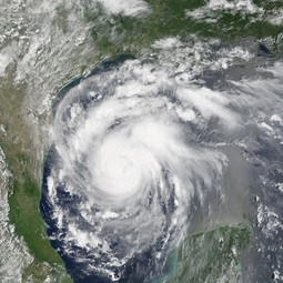 Hurricane Harvey from space on 24 August 2017