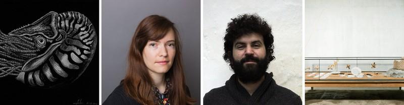 EGU 2019 artists in residence and samples of their work (Credit: M Merlin/G Skretis/ G Anastasakis)