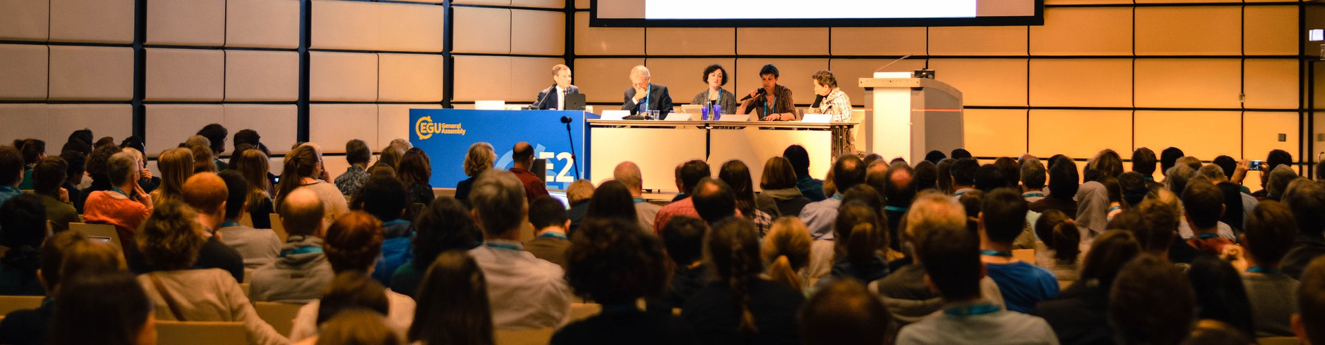 Scientists at a Union Symposium during the EGU 2017 General Assembly (Credit: Kai Boggild/EGU)